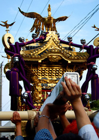 浦安三社祭神輿 塗り 清瀧神社