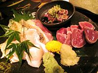 宮崎地鶏 鶏刺盛り