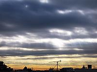朝の空 天使の梯子